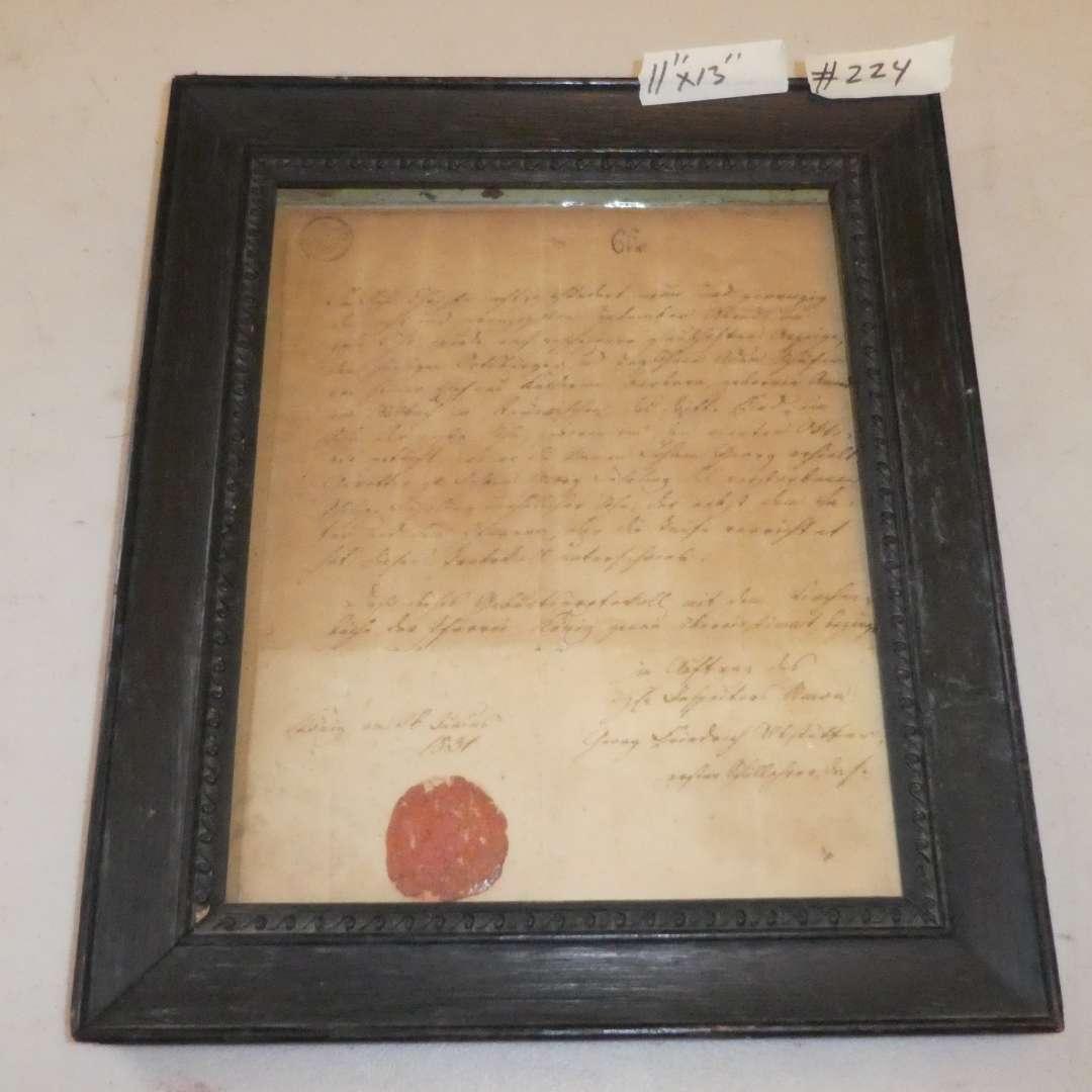 Lot # 224 - Antique 1831 Baptism Certificate (main image)