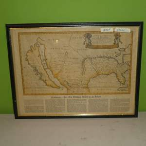 """Lot # 225 - Old California/ North America Map """"California.. Her 100 Years as an Island"""""""