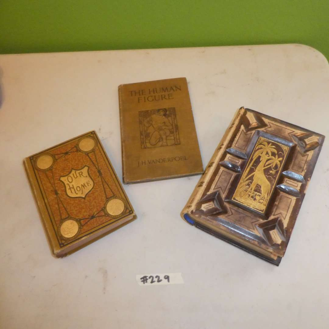 Lot # 229 - Antique Books (The Animal Kingdom, The Human Figure and Our Home) (main image)