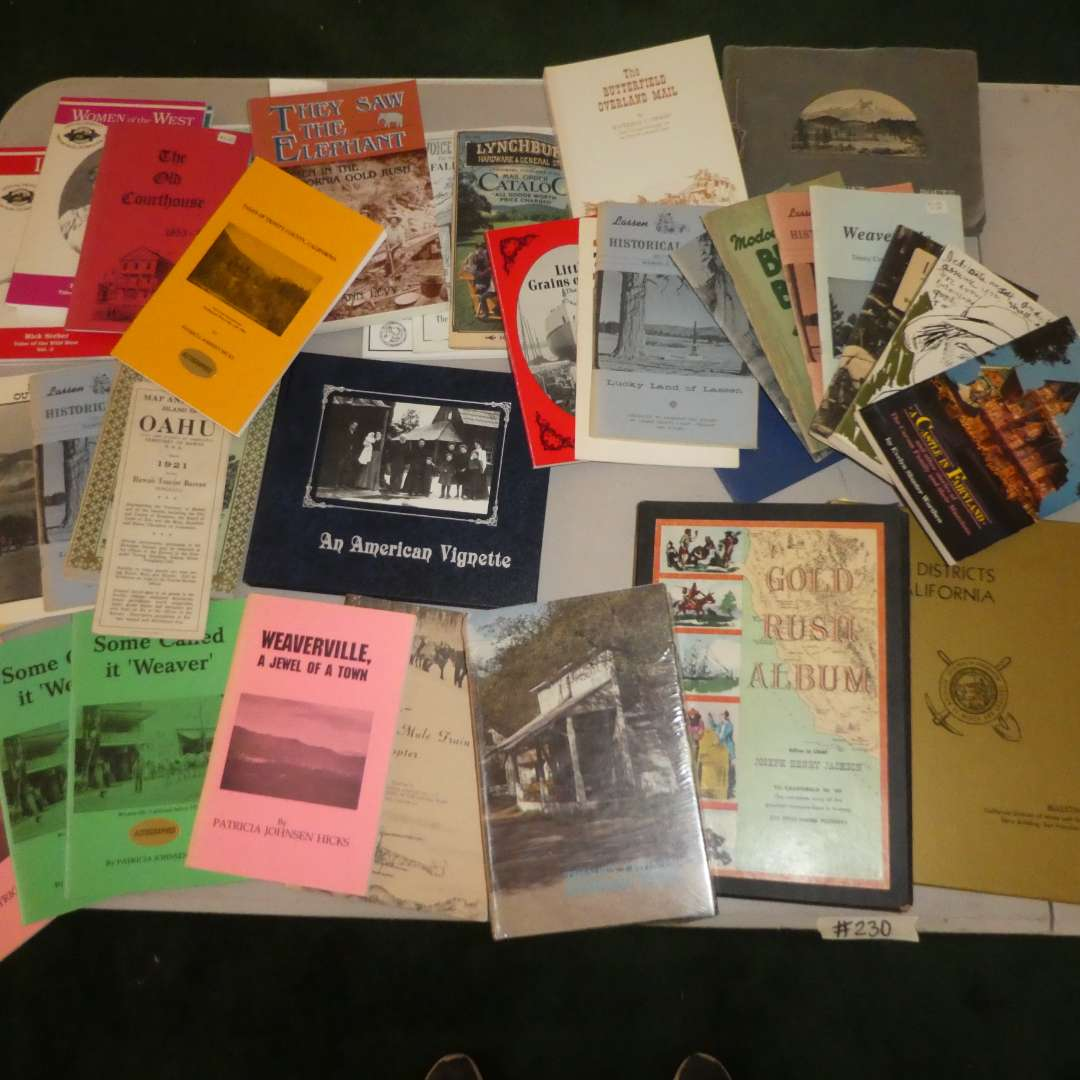 Lot # 230 - Historical Northern California Paper Back Books, Mt. Shasta Photo Album and More (main image)