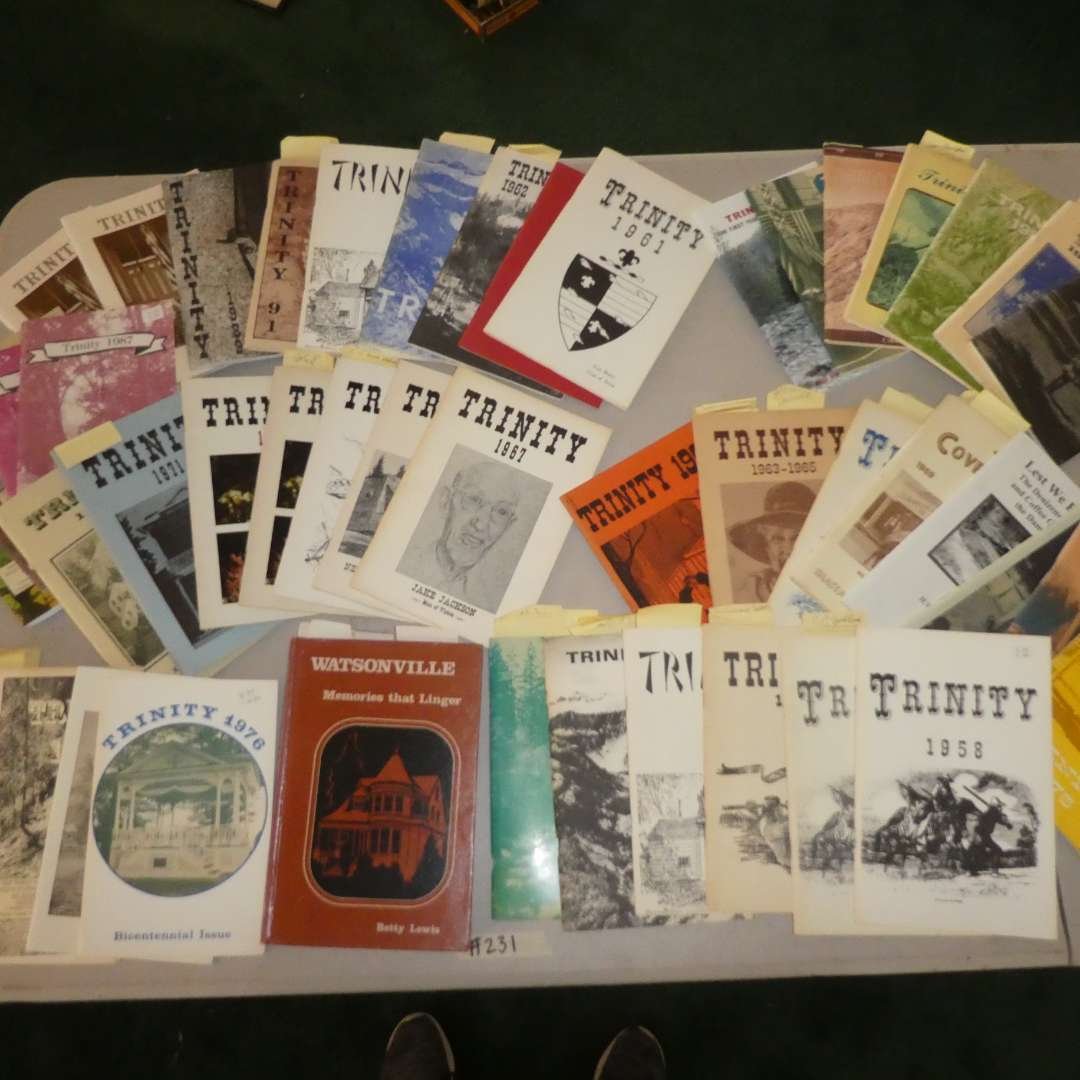 Lot # 231 -  Historical Northern California Paper Back Books -Trinity  (main image)