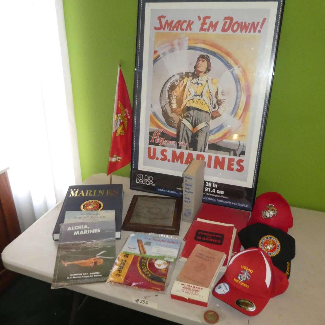 Lot # 232 - U.S. Marines Corps Memorabilia Lot  (main image)