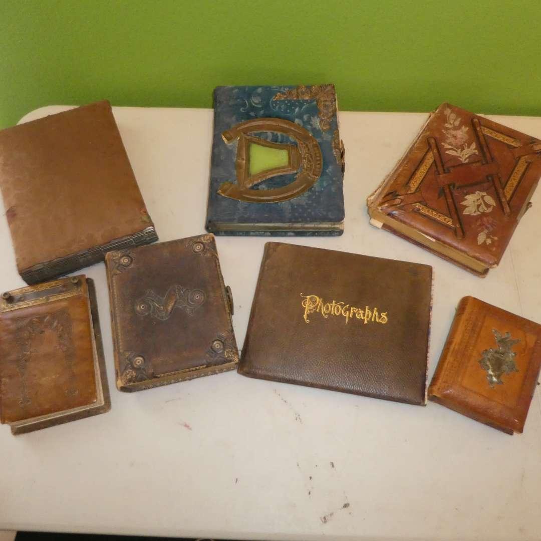 Lot # 235 - Antique Victorian Photo Albums Collection w/ Photos  (main image)