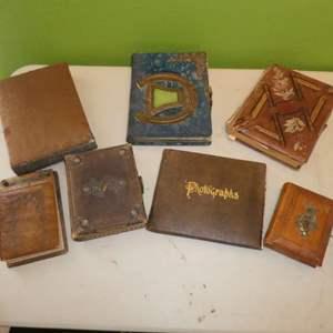 Lot # 235 - Antique Victorian Photo Albums Collection w/ Photos