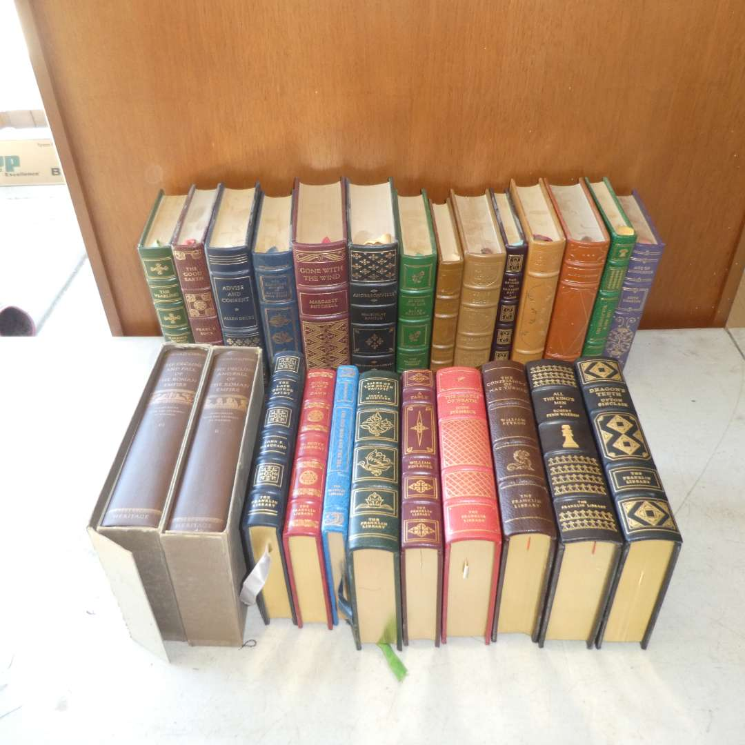 Lot # 500 - Collection of Franklin Library Books and Two Heritage Books   (main image)