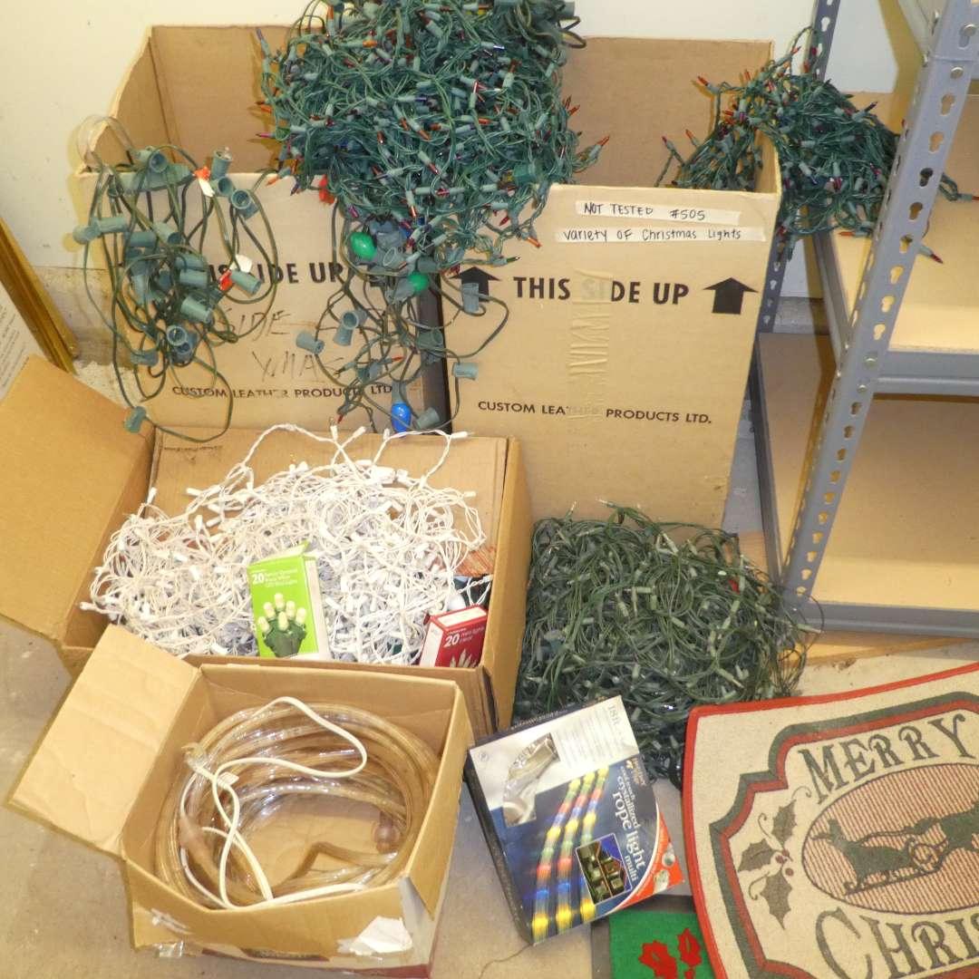 Lot # 505  - Variety of Christmas Lights!  (main image)