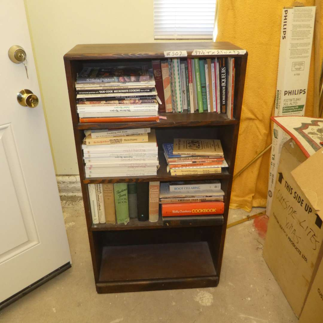Lot # 507  - Book Self w/ a Variety of Cookbooks (main image)