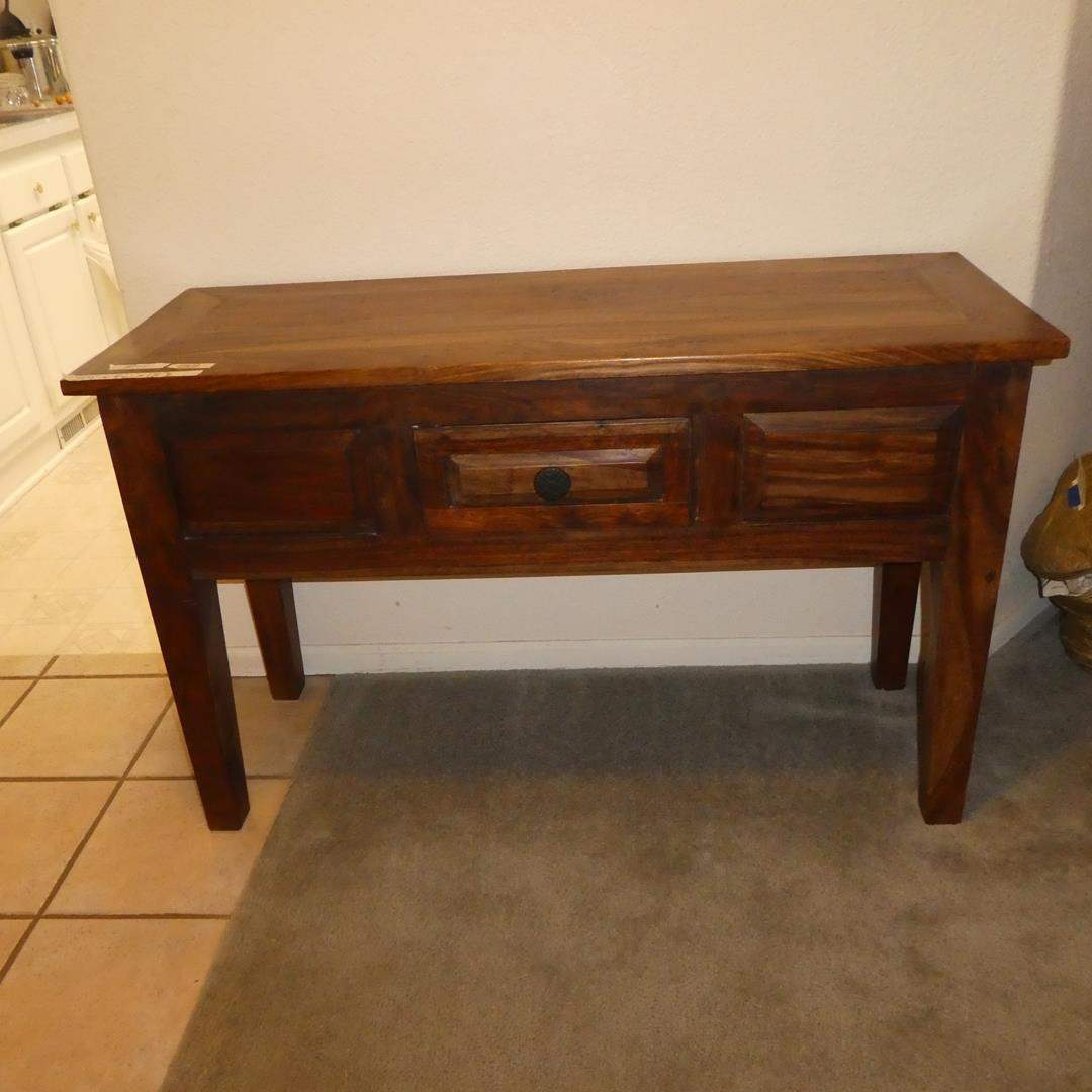 Lot # 105 - Solid Wood Entryway Table w/Drawer  (main image)