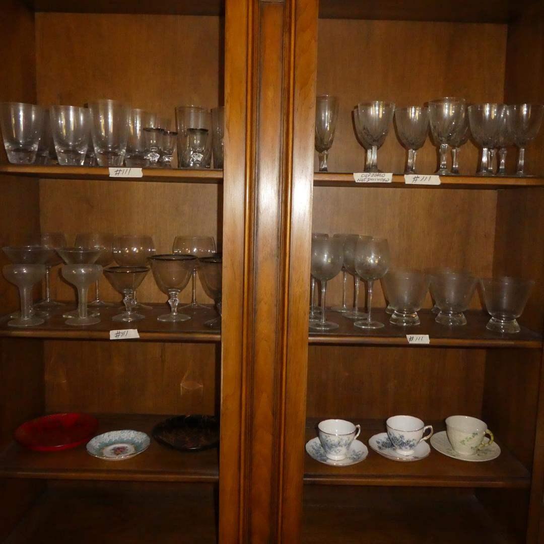 Lot # 111 - Vintage Stemware & Tea Cups Including Belleek (main image)