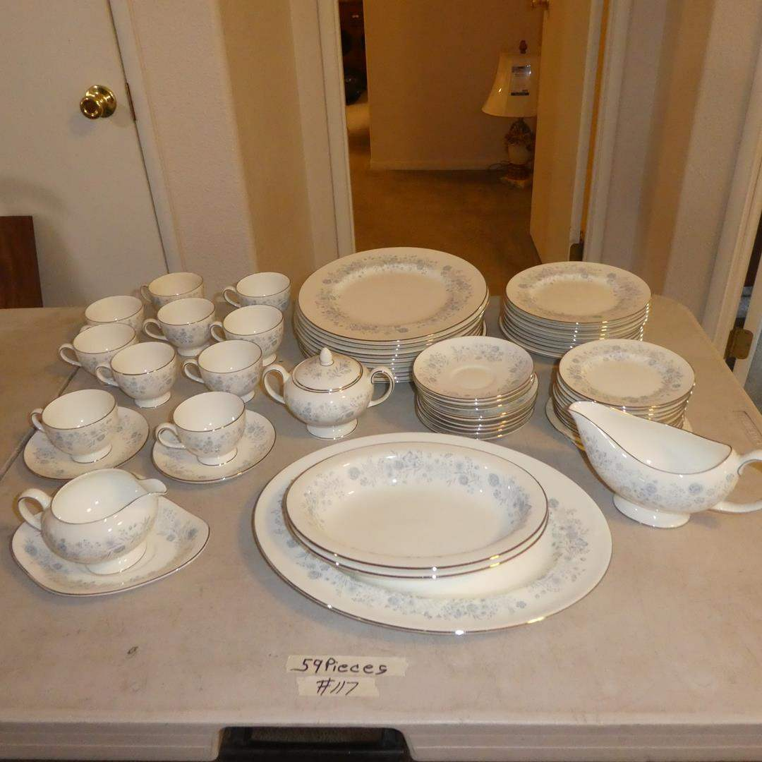 Lot # 117 - Vintage Wedgwood Bone China Made in England Belle Fleur - 59 Pieces (main image)