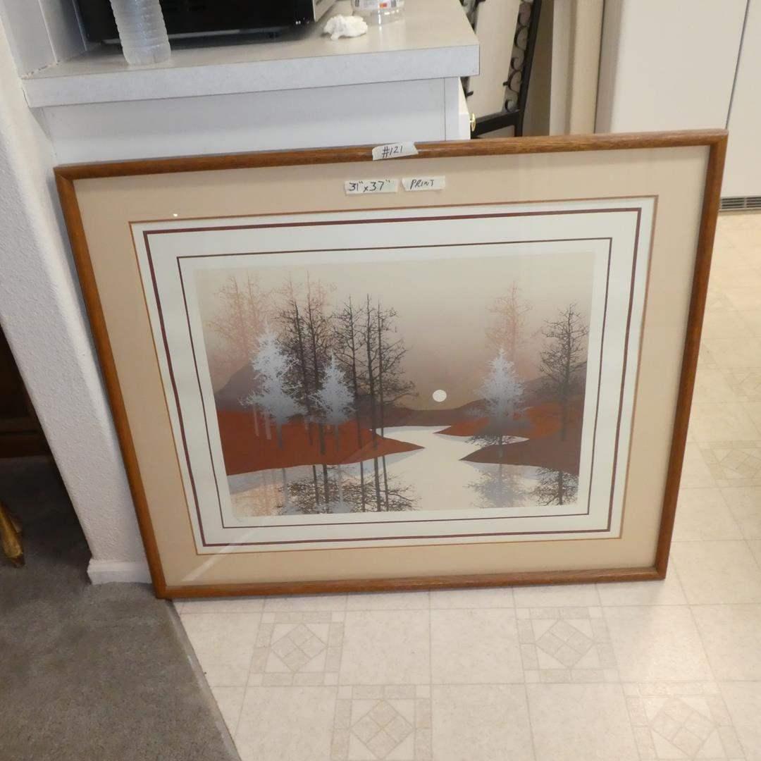 Lot # 121 - Framed Numbered Signed Print by James Hagen 108/300