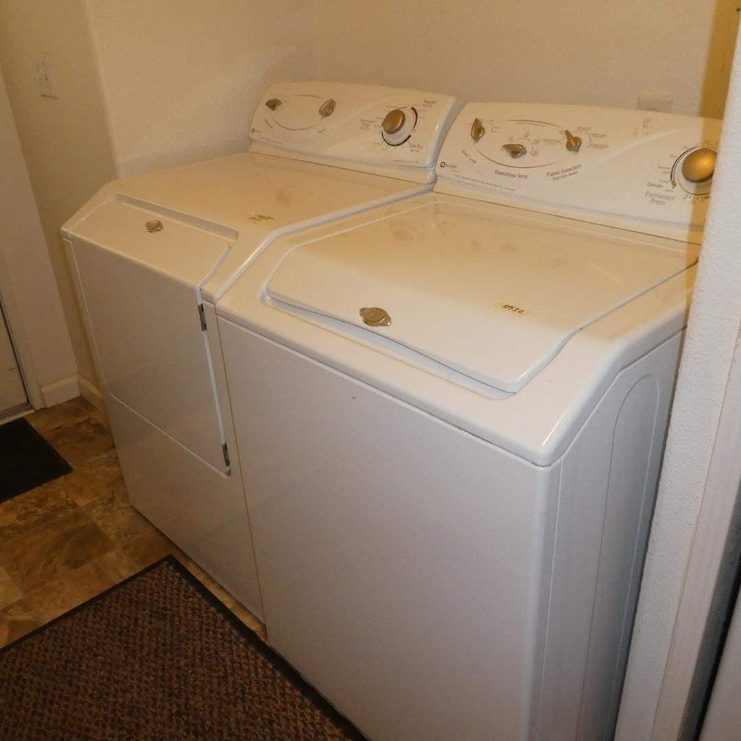 Lot # 132 - Matching Pair Maytag Ensignia Washing Machine & Electric Dryer