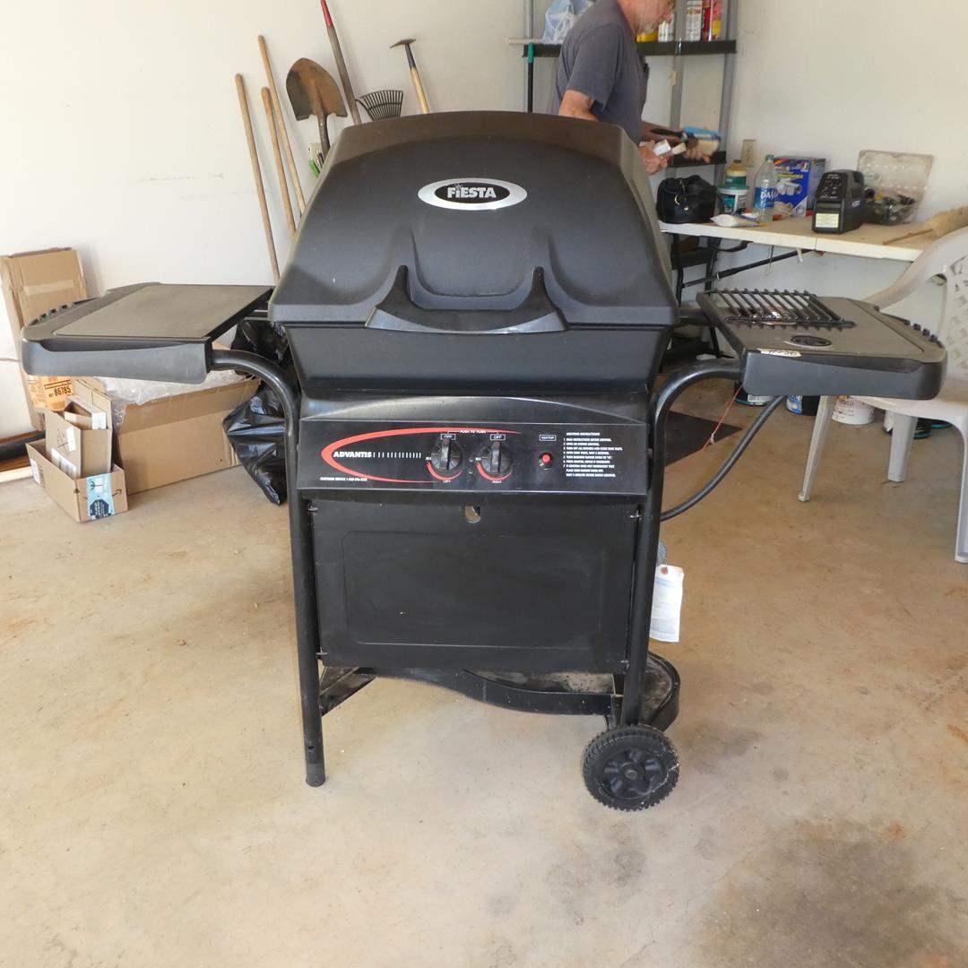 Lot # 136 - Fiesta Outdoor Gas Grill w/Side Burner