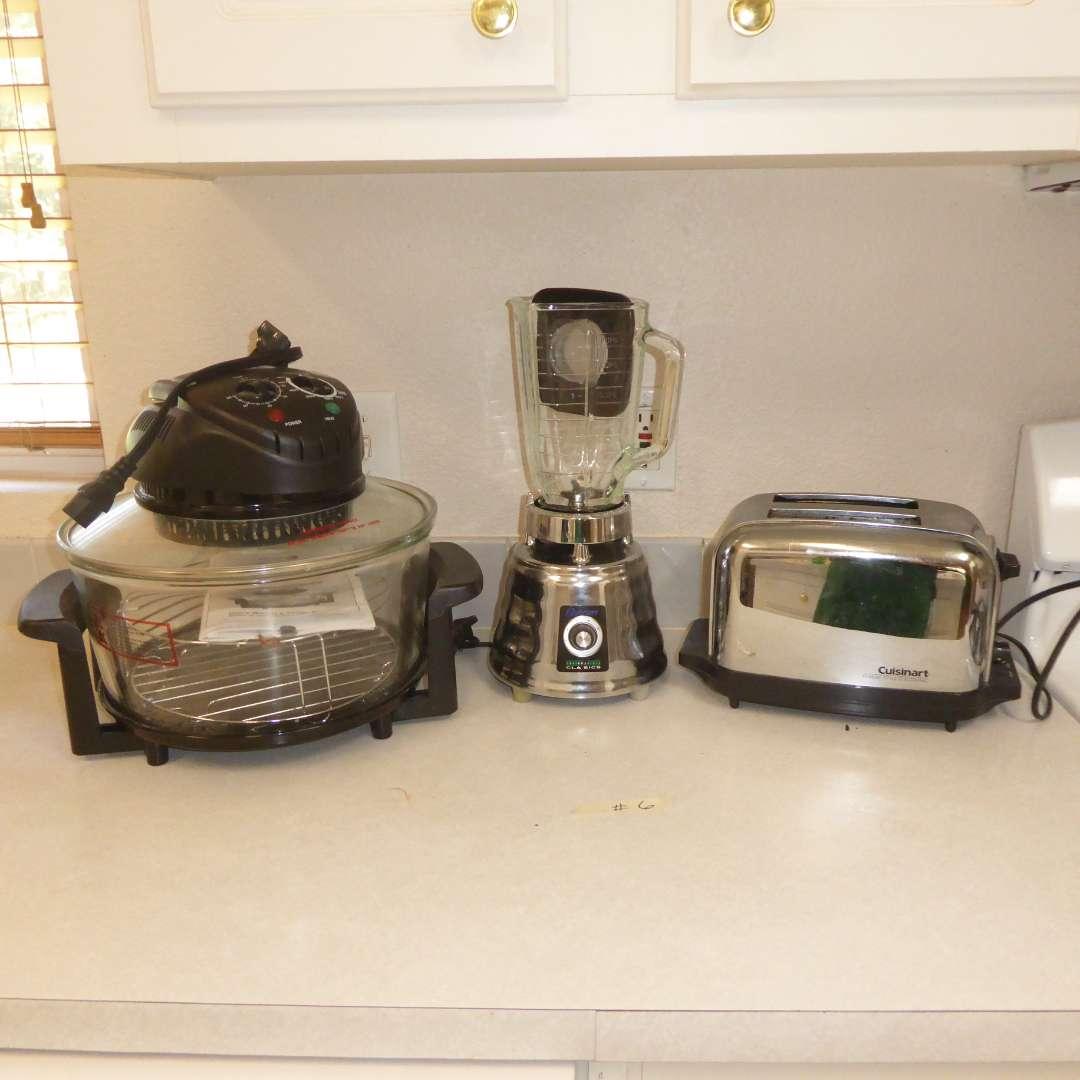 Lot # 6 - Fagor Halogen Table Top Oven, Osterizer Blender & Cuisinart Toaster (main image)