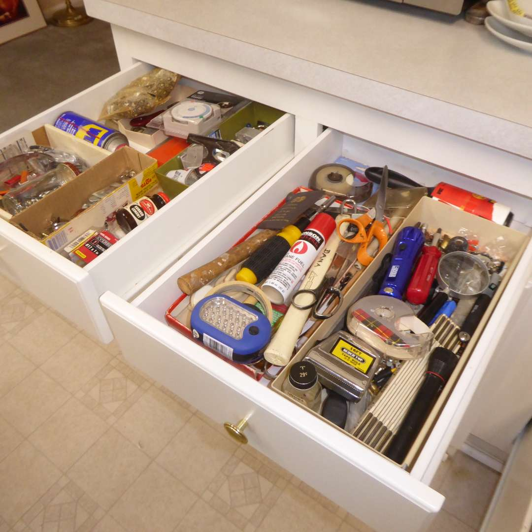 Lot # 9 - Miscellaneous Household Supplies (Contents Of Three Drawers) (main image)