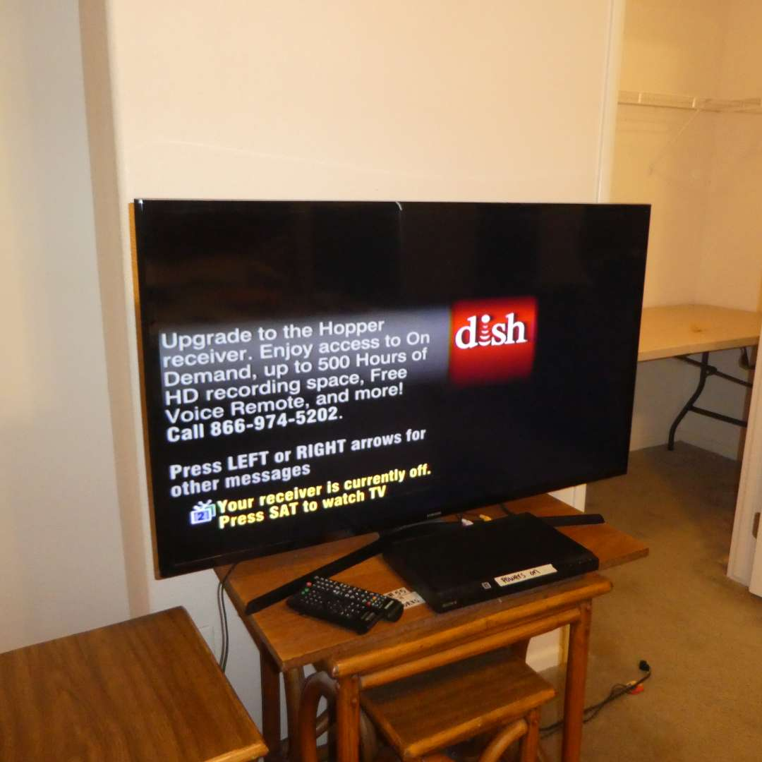 """Lot # 55 - 43"""" Samsung Smart TV and Sony DVD Player"""