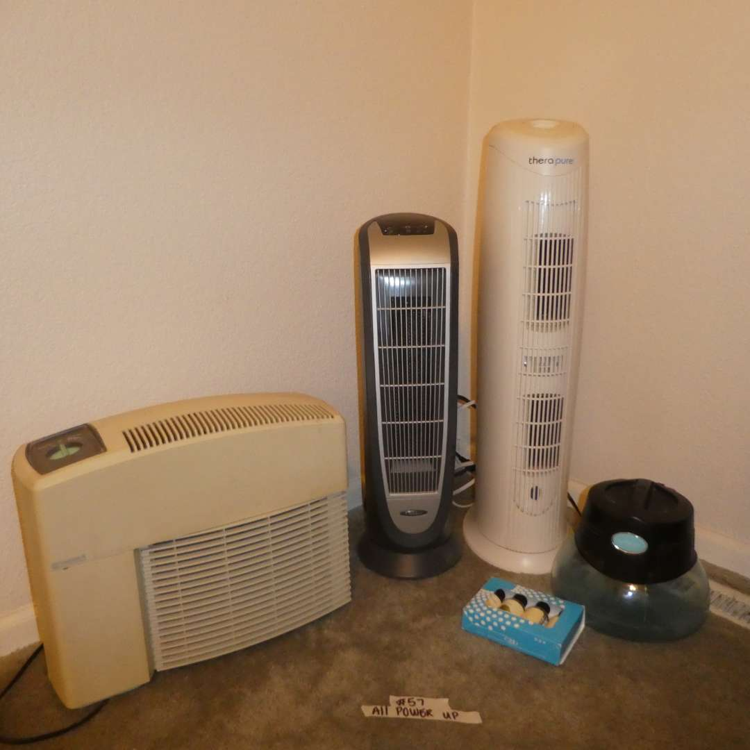Lot # 57 - Kenmore Air Cleaning System, Rainmate IL Air Purifier, Thera Pure Air Purifier and Lasko Air Heater