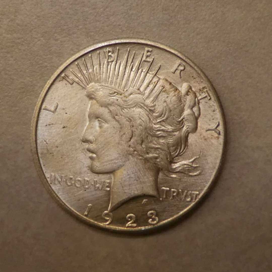Lot # 67 - 1923-S Silver Peace Dollar Coin (main image)