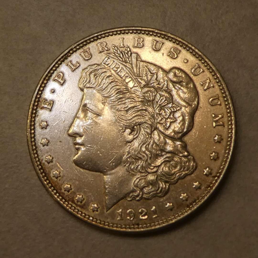 Lot # 72 - 1921 Morgan Silver Dollar Coin (No Mint Mark)