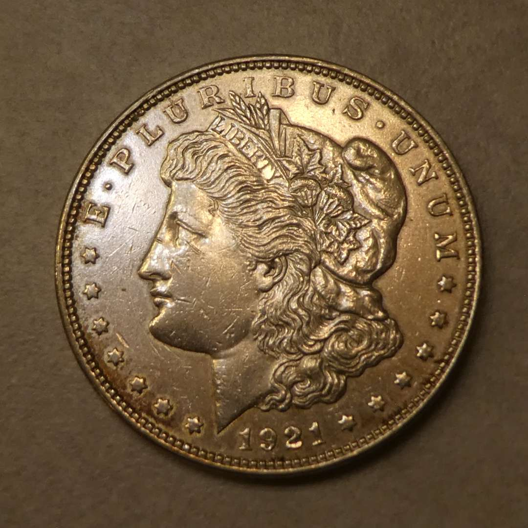 Lot # 72 - 1921 Morgan Silver Dollar Coin (No Mint Mark) (main image)