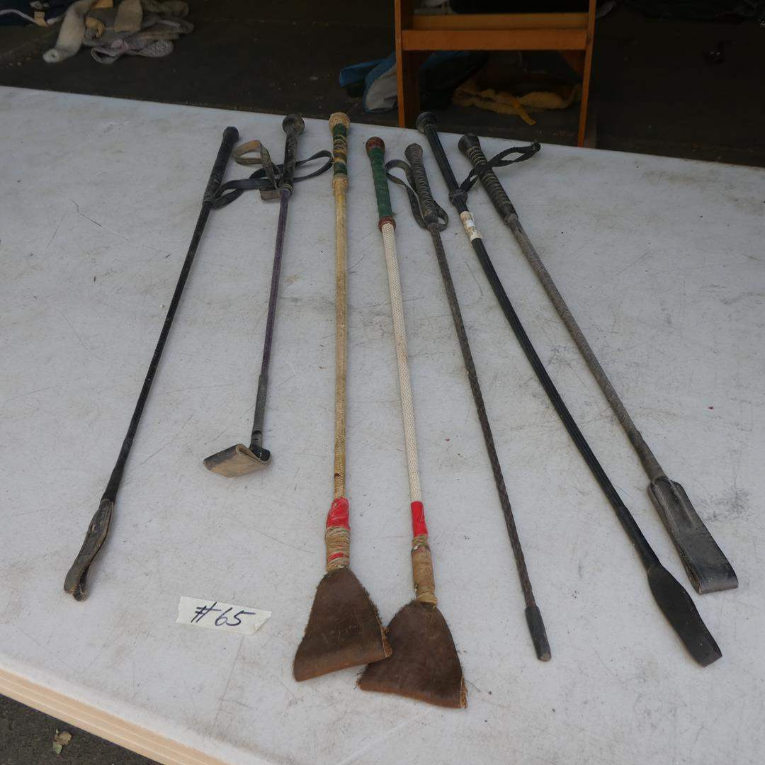 Lot # 65 - Seven Horse Whips (main image)