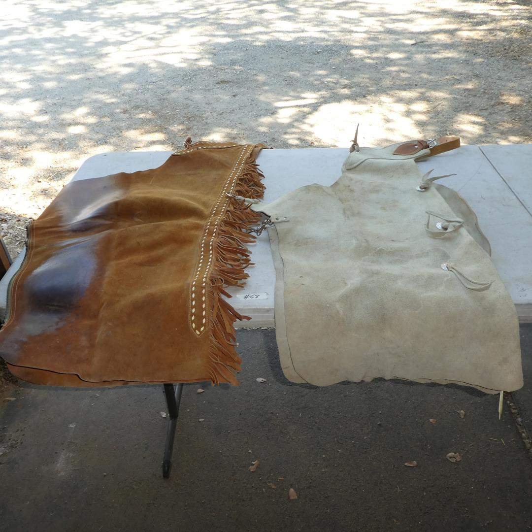 Lot # 68 - Two Pair Leather Chaps (main image)