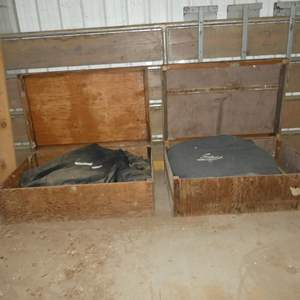 Lot # 80 - Two Sun Shades in Wooden Storage Boxes - See Pics For Sizes