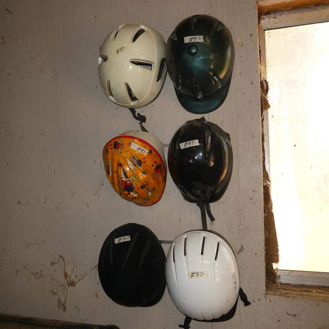 Lot # 87 - Six Assorted Riding Helmets - One Childs (main image)