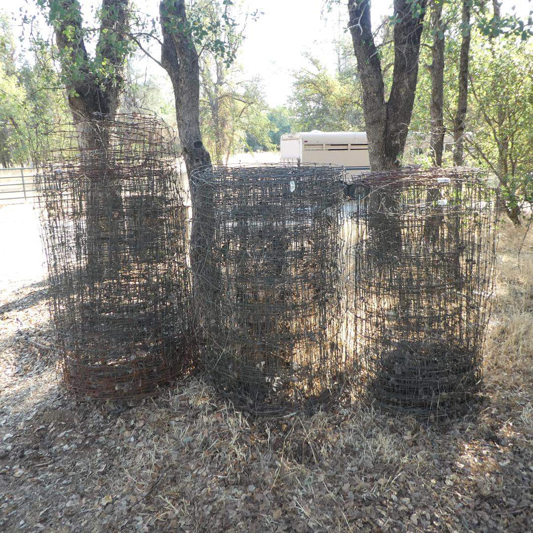 Lot # 96 - Three Partial Roles Wire Fencing  (main image)