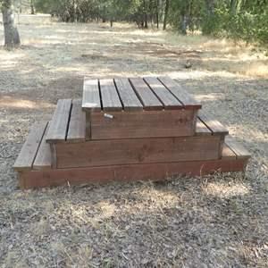 Lot # 106 - Wooden Three Step Mounting Blocks