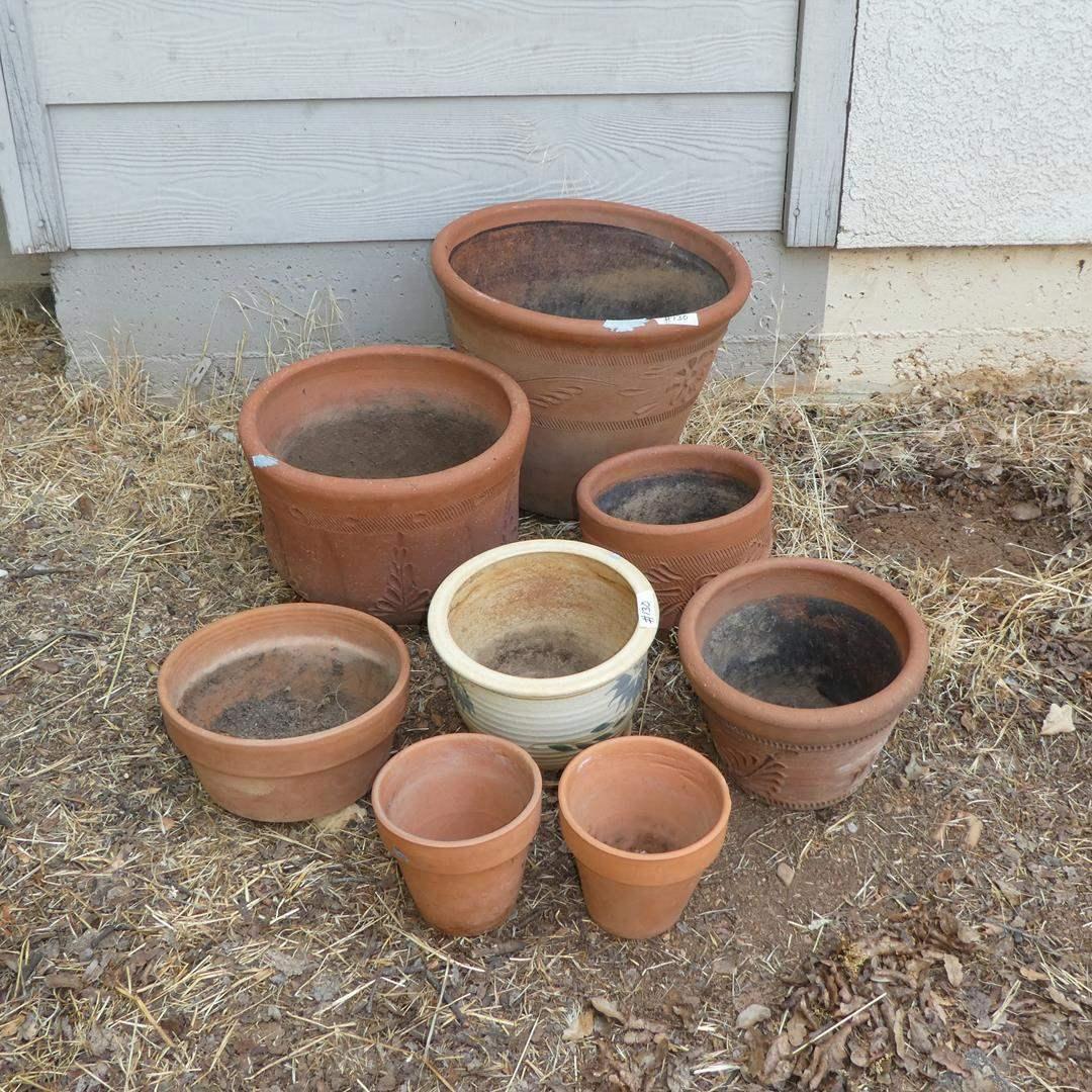 Lot # 130 - Terracotta Clay Pots (main image)