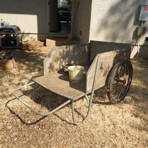 Lot # 132 - Wooden Garden Cart - Needs New Tires