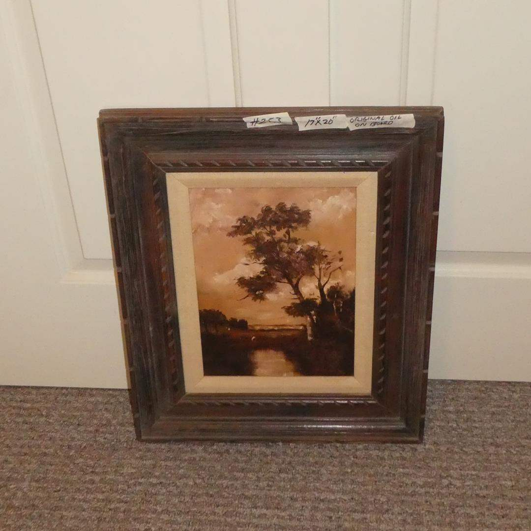 Lot # 253 - Framed Oil on Board Painting by Mary Johnson