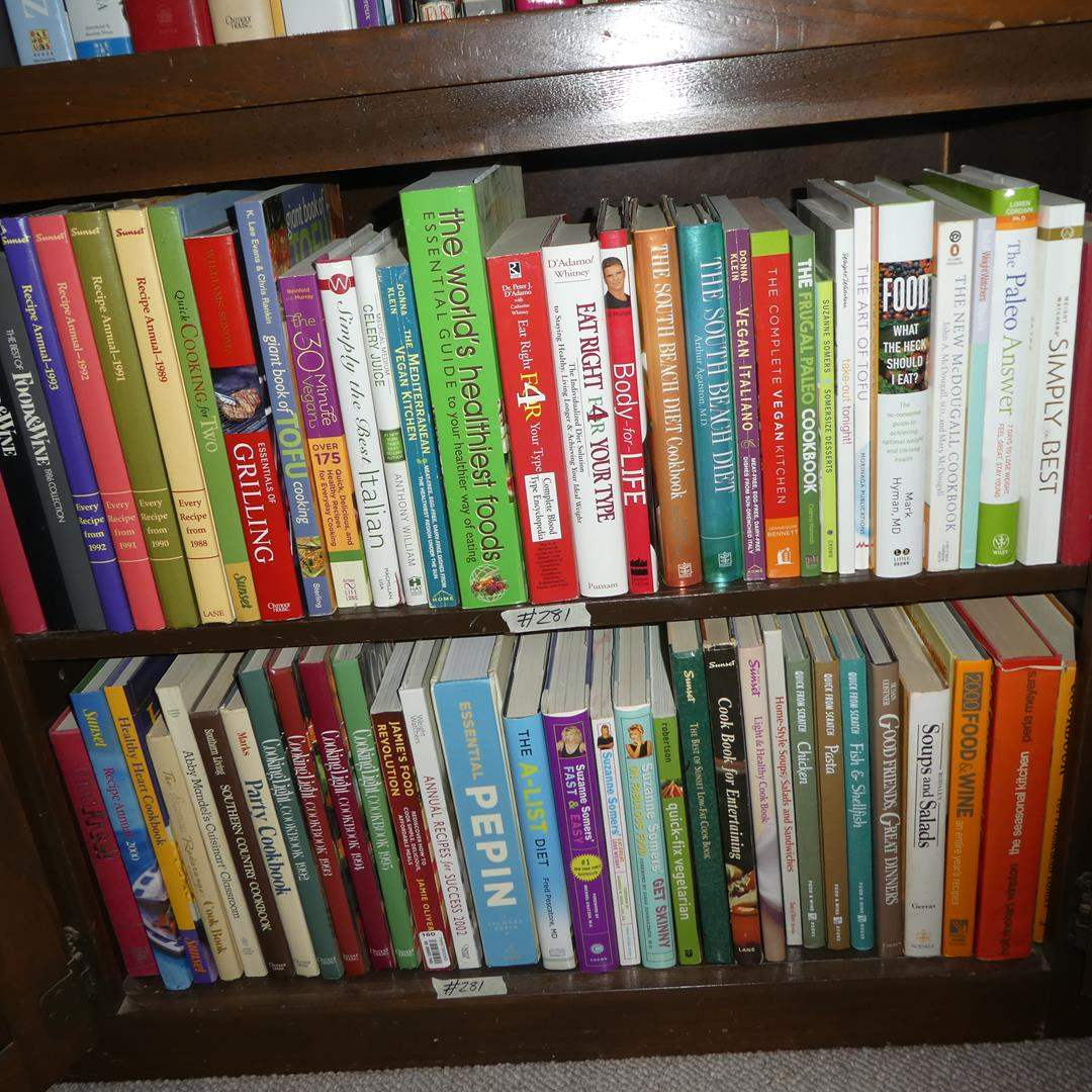 Lot # 281 - Cookbooks & Eating Healthy Books (main image)