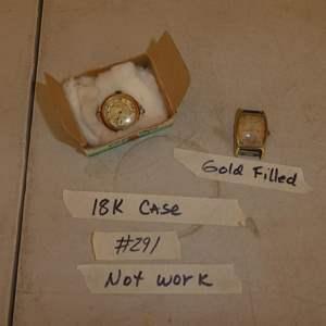 Lot # 291 - Vintage Shreve & Co. San Francisco 18K Gold Watch & 14K Gold Filled Hamilton Watch