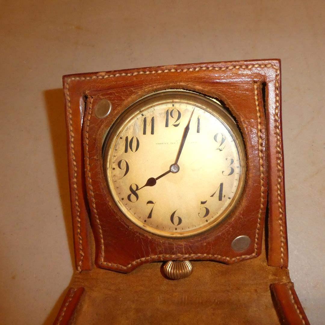 Lot # 300 - Antique Shreve Treat Eacret Majestic Watch Co. Switzerland 15 Jewels Pocket Watch w/Hand Tooled Leather Case - Runs (main image)