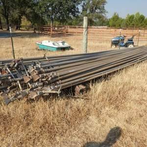 Lot # 120 - Aluminum Irrigation Pipe 30'ft x2''in - 30ft sections