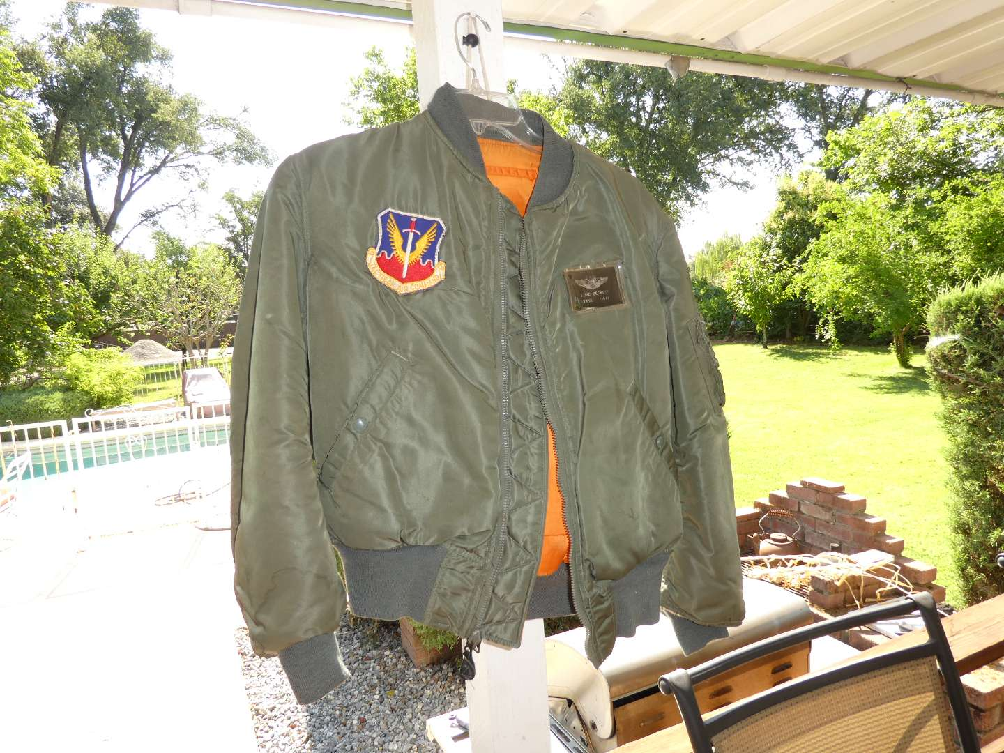 Lot # 306 - Authentic 1960s-70s USAF Fighter Pilot Bombers Jacket