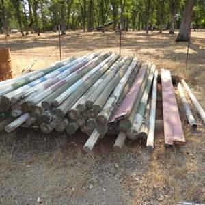 Auction Thumbnail for: Lot # 125 - 65 Jump Poles 12'ft. Long