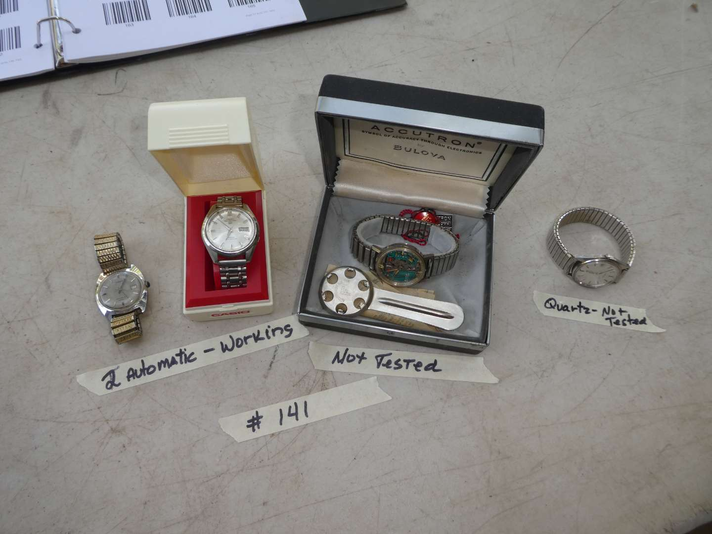 Lot # 141 - 2 Working Automatic Watches Seiko & Timex & 1 Quartz Watch not working  (main image)