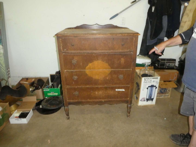 Lot # 145 - Antique Wood Dresser for Restoration - Repurpose
