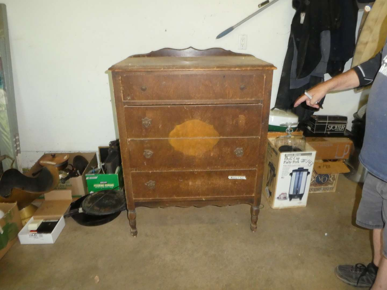 Lot # 145 - Antique Wood Dresser for Restoration - Repurpose (main image)