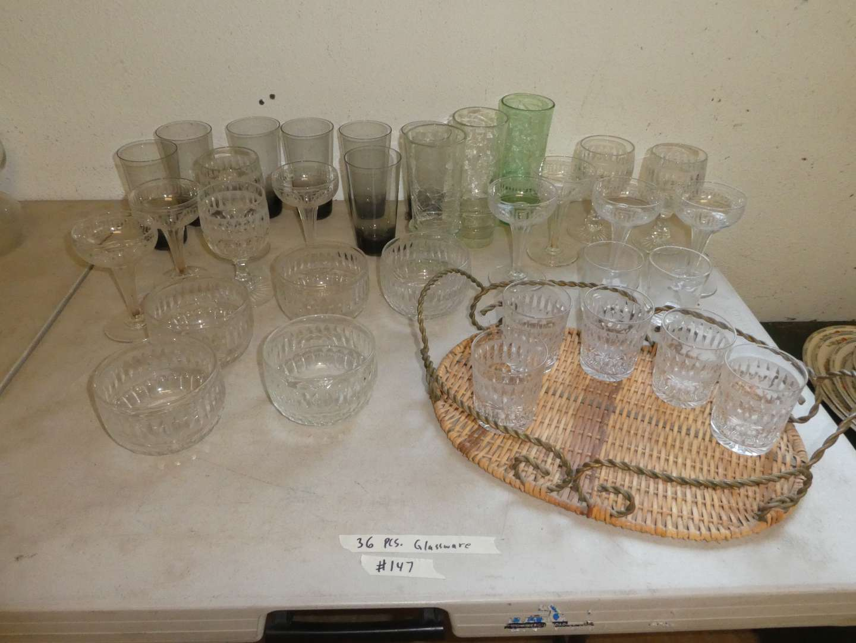 Lot # 147 - Vintage Glassware