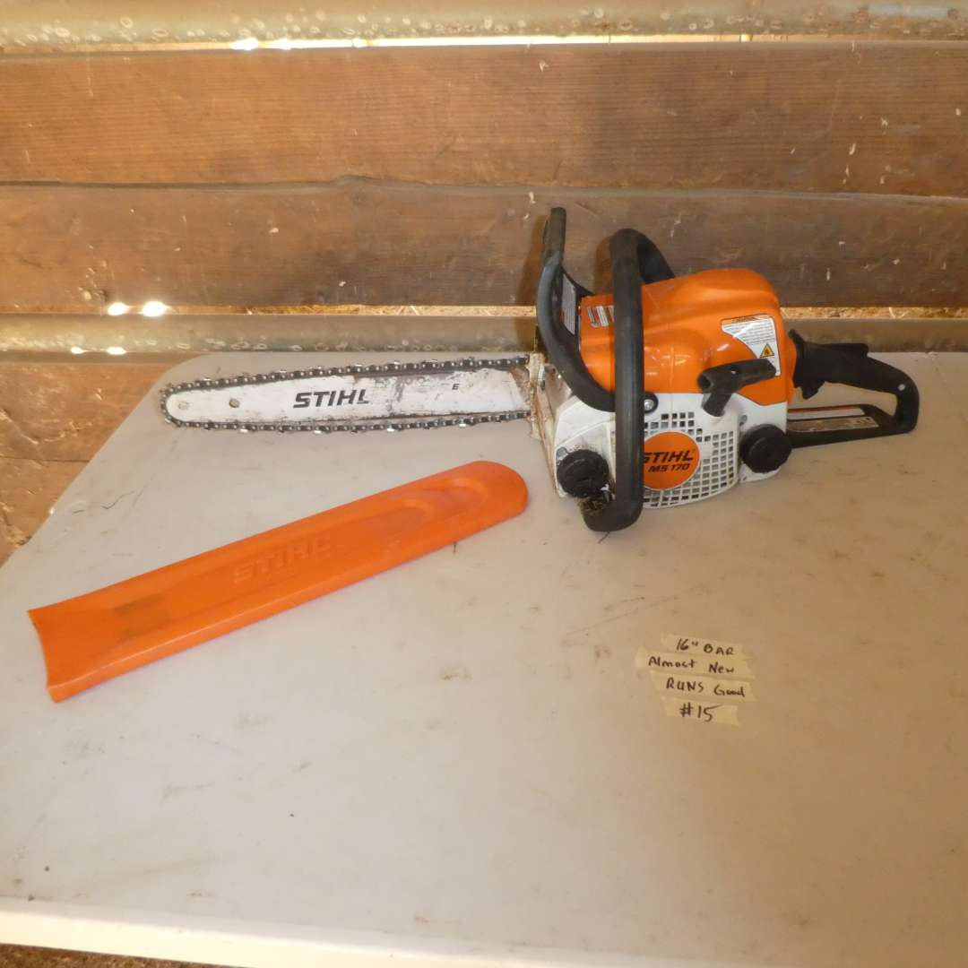 Lot # 15 - Stihl Chainsaw (MS170)(Almost New) (main image)