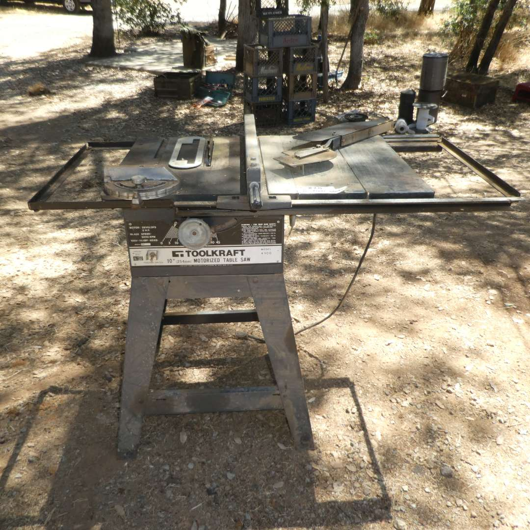 """Lot # 25 - Toolkraft  10"""" Motorized Table Saw"""