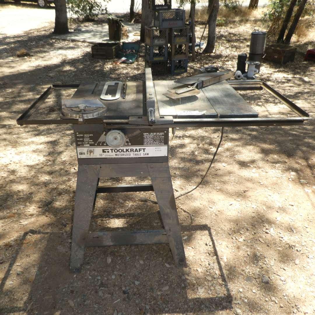 "Lot # 25 - Toolkraft  10"" Motorized Table Saw  (main image)"