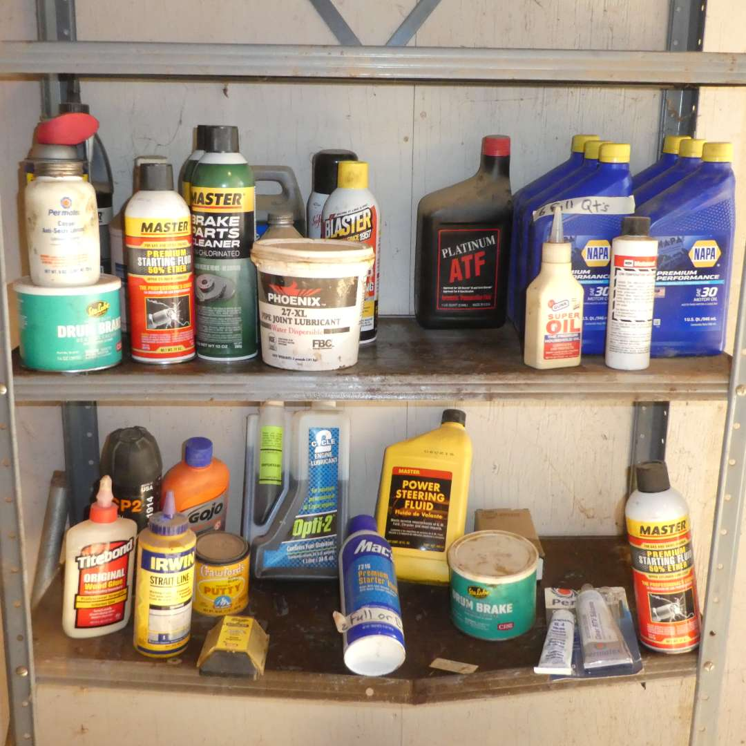 Lot # 34 - Various Automotive Chemicals (Half Full or Better)