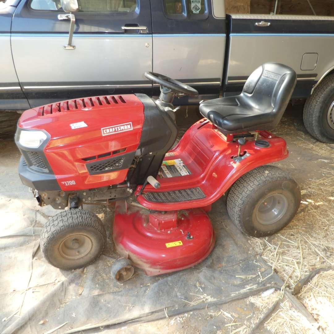 Lot # 40 -  Craftsman T1700 Riding Lawn Mower (Model 247 273430) (main image)