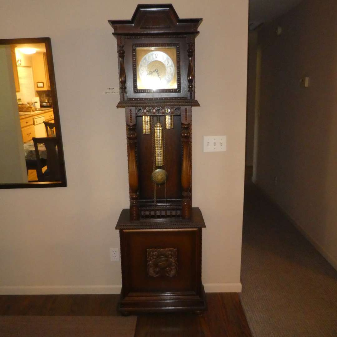 Lot # 209 - Beautiful West Germany Grandfather Clock  (main image)