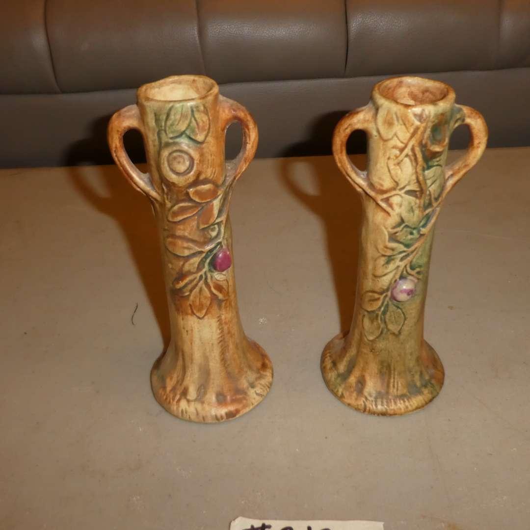 Lot # 212 - Two Vintage Weller Bud Vases  (main image)